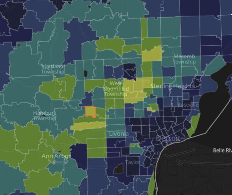 southeast michigan zip code map Do You Live In A Super Zip Here Are Michigan S Top 5 Wealthiest