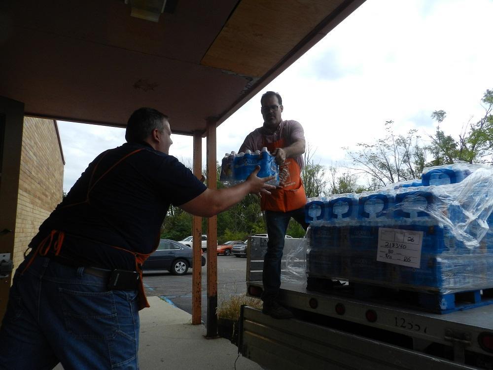Bottled Water Donations Flowing Into Flint Schools