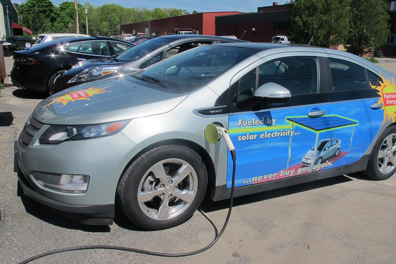 A Chevy Volt at a 2014 press event in Portland.