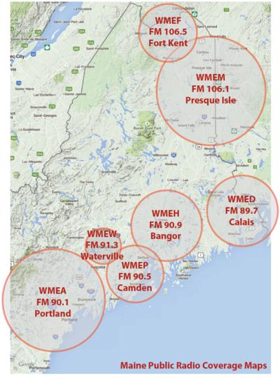 Where to Hear Maine Public Radio | Maine Public