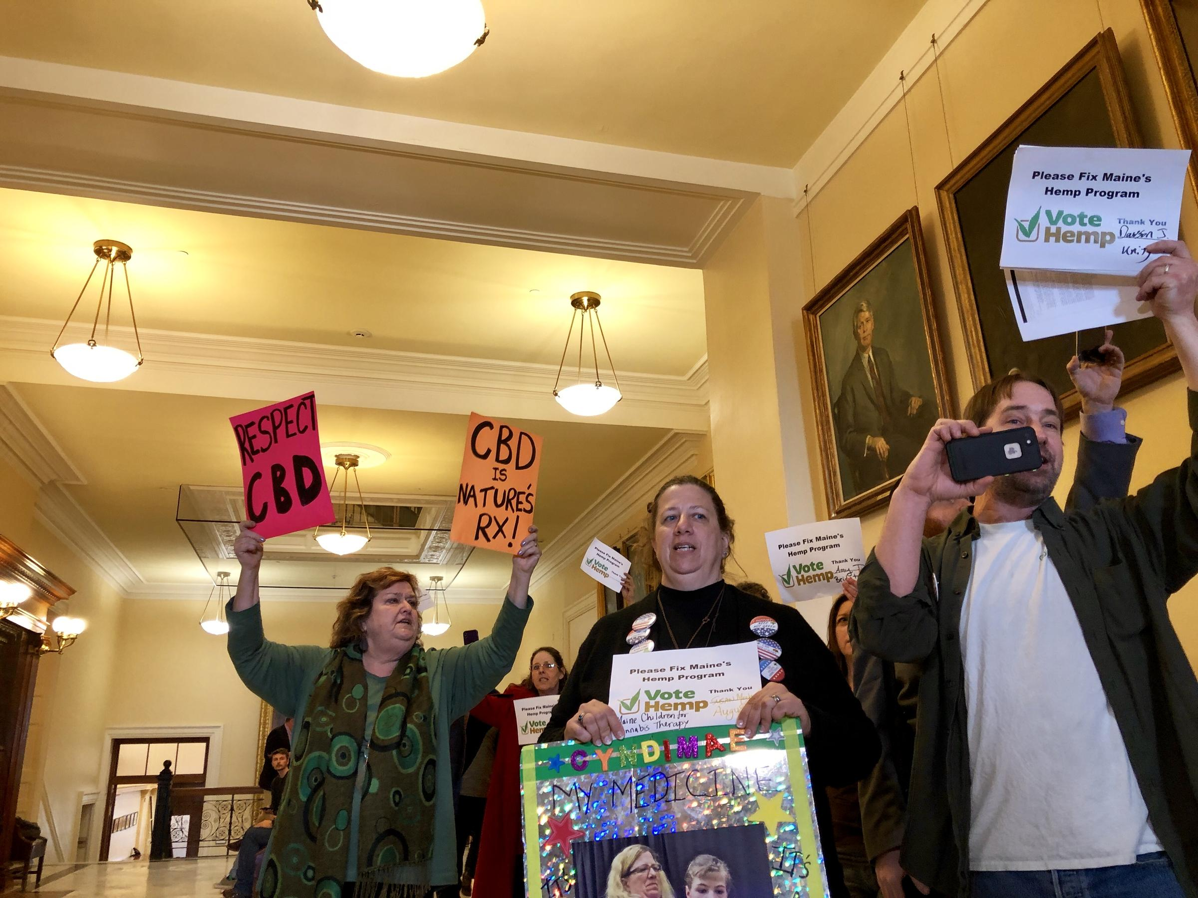 Hemp Supporters Rally In Augusta After State Directs
