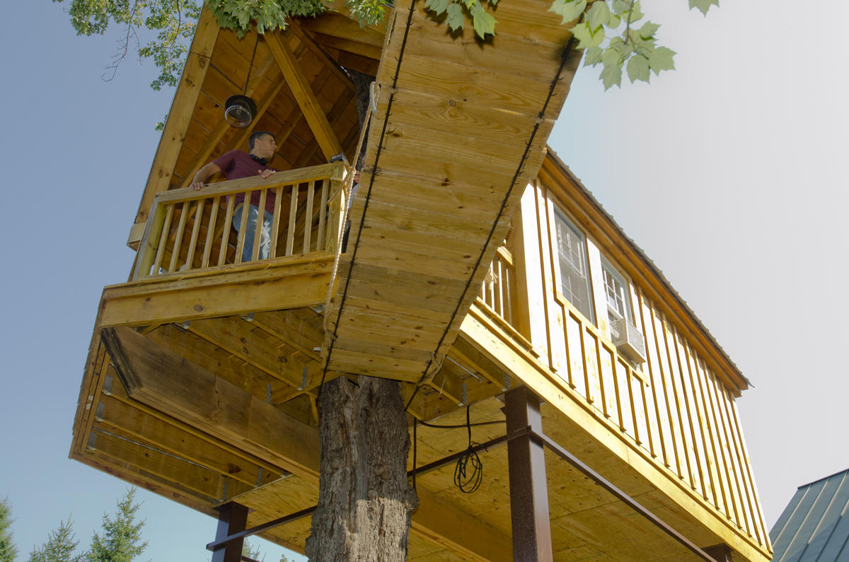 A Tiny House On High: Laconia Man Builds A Tree House For