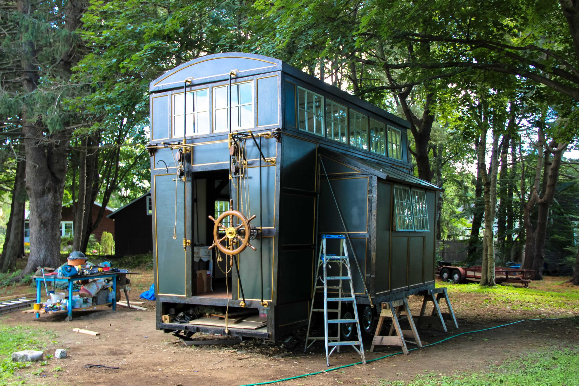 Brilliant Steampunk Steamer Trunk A Tiny House Contraption On Wheels Home Interior And Landscaping Oversignezvosmurscom