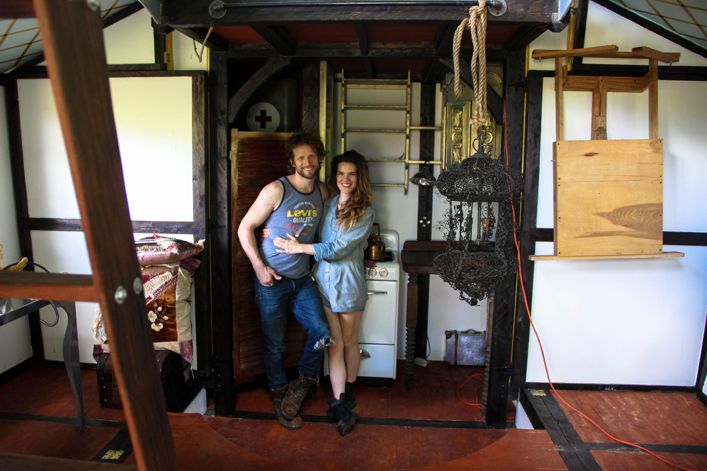 Pleasing Steampunk Steamer Trunk A Tiny House Contraption On Wheels Home Interior And Landscaping Oversignezvosmurscom