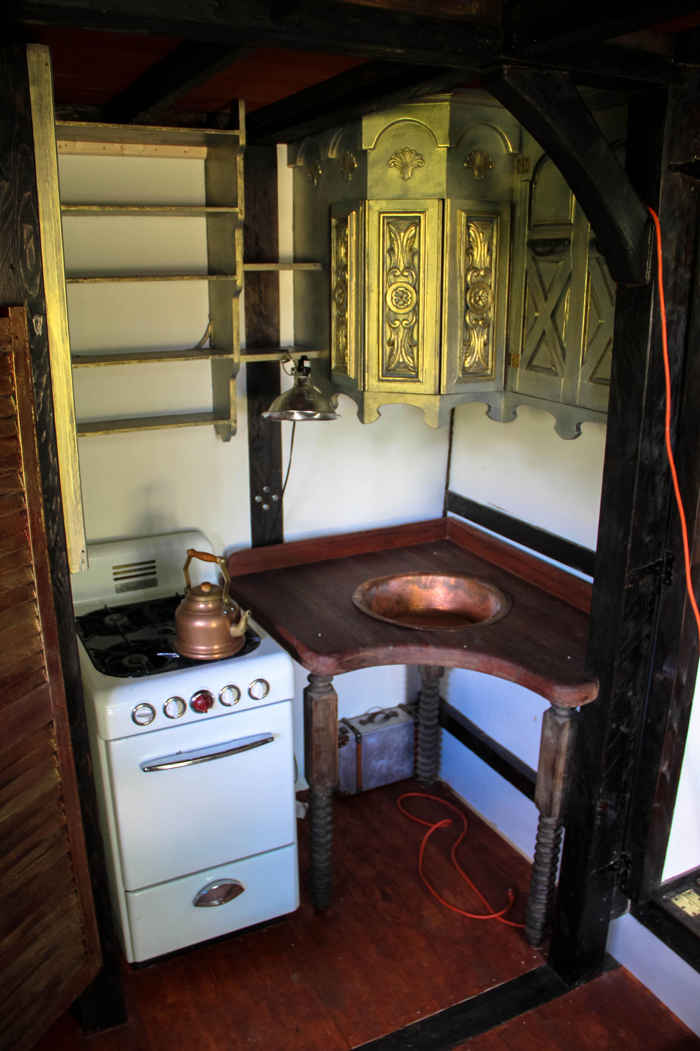 Steampunk Steamer Trunk A Tiny House Contraption On Wheels New