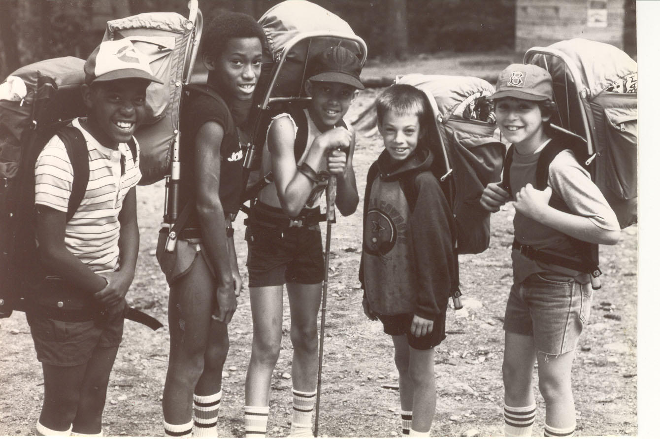 1930/'s Young People at Camp Original  Vintage Photo Photograph