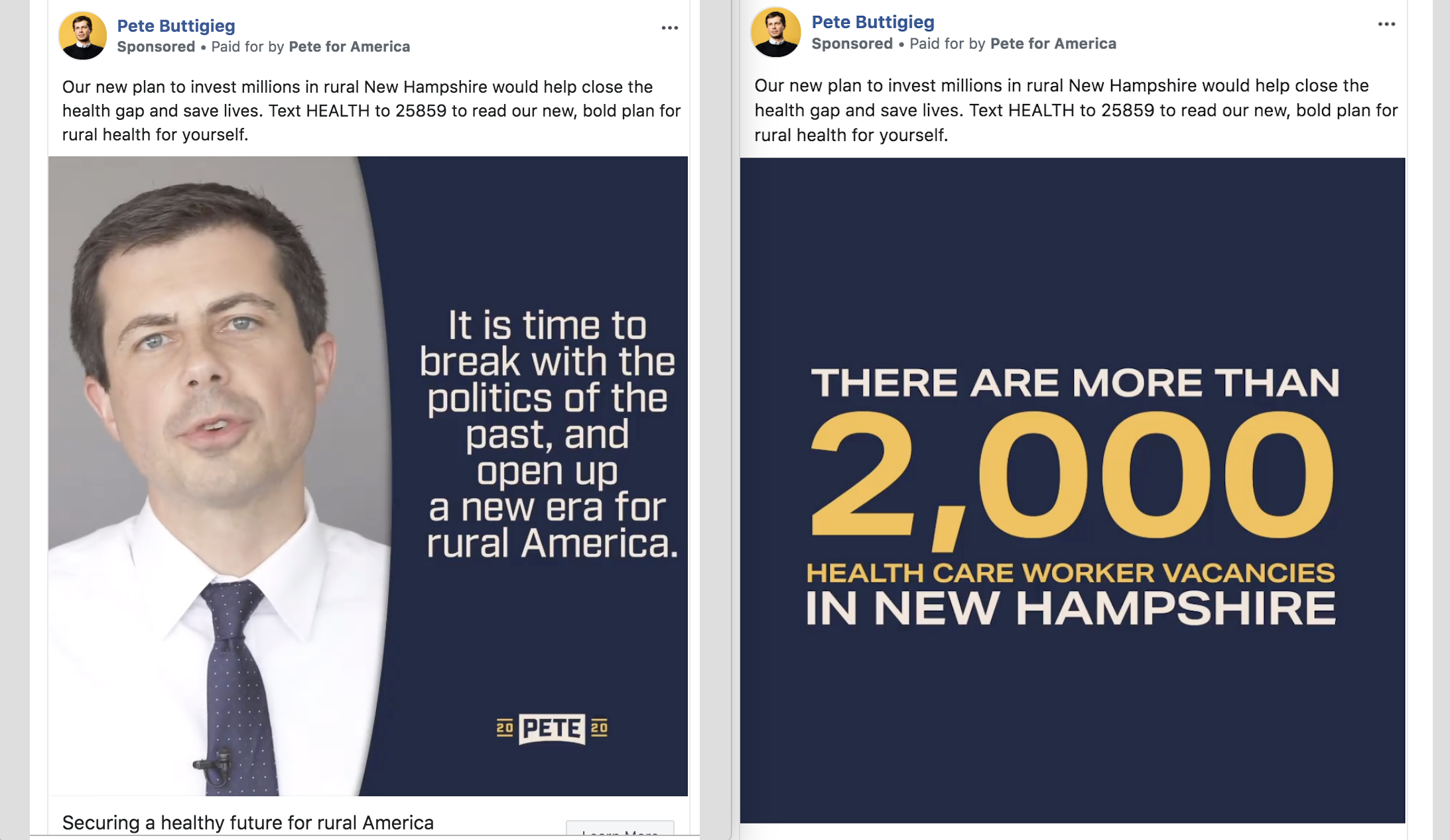 N H  Voters Can Expect More Localized Facebook Ads With