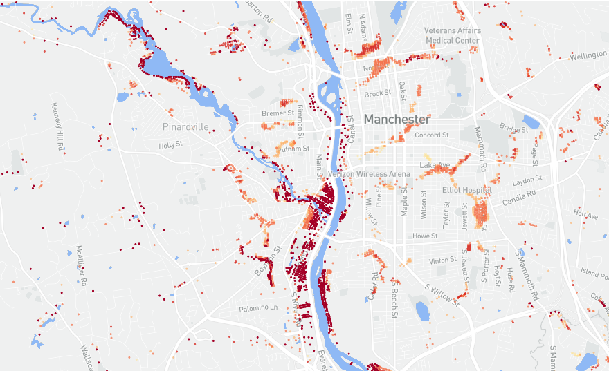 Data shows 14.6 million properties in USA at risk from floods