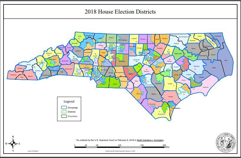 2018 Nc General Assembly District Maps Public Radio East - Us-house-of-representatives-map-by-state