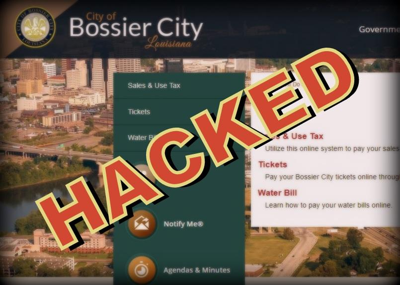Possible Cyber-Breach of Bossier City Water Bill Payment System
