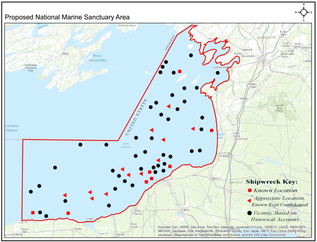 Map Of New York Oswego.More Marine Sanctuaries Coming To Great Lakes Great Lakes Today