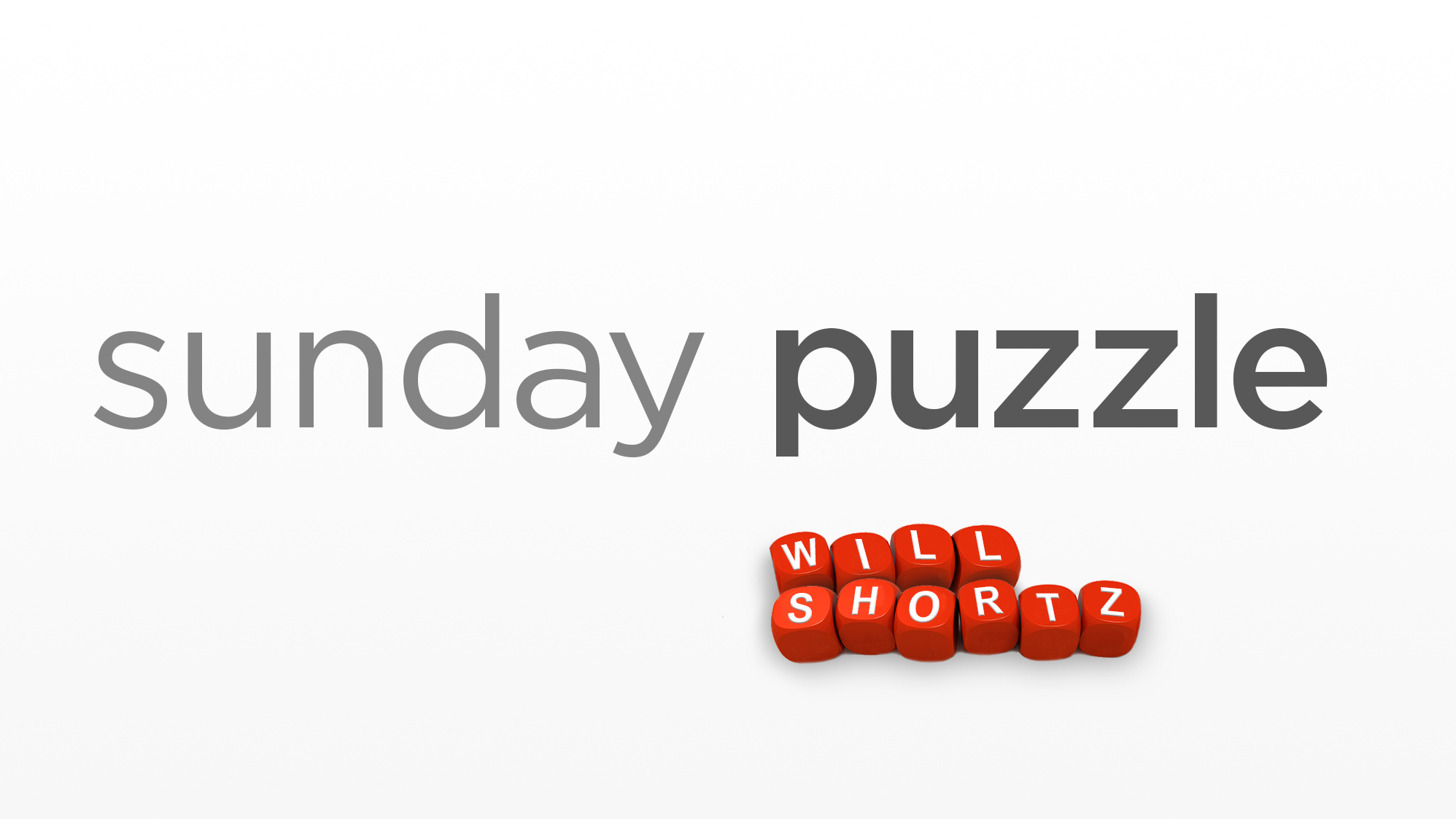 Sunday Puzzle It Takes Two Wwno