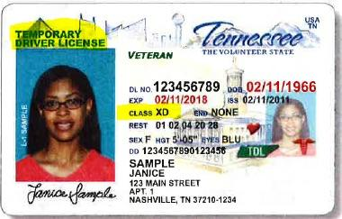 copy of drivers license tennessee