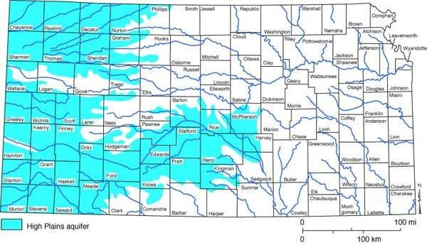Kansas Making Moves To Save The Ogallala Aquifer | HPPR on map of kansas schools, map of kansas county lines, map of kansas mountains, map of kansas wetlands, map of kansas parks, map of kansas railroads, map of kansas roadways, map of kansas airports,