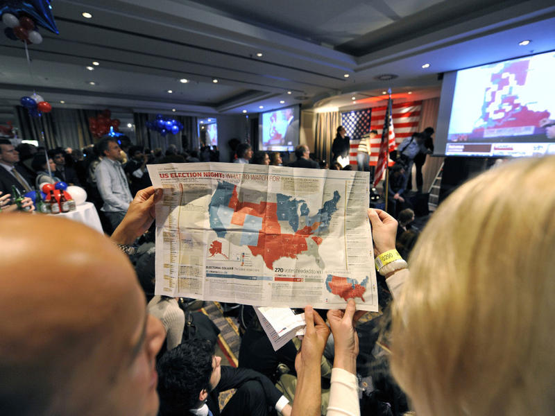 It is a graphic of Divine Electoral College Coloring Map