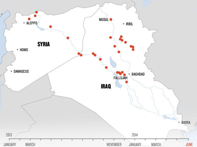 In One Map, The Dramatic Rise Of The Islamic State Militants ...