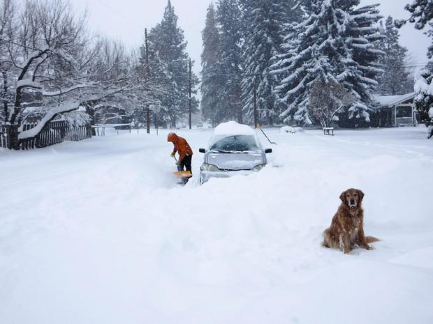 Record-Breaking Snow In Central Oregon