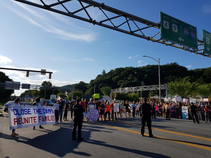 Protesters Denounce ICE Detentions in Upper Valley, Numerous Arrests Made