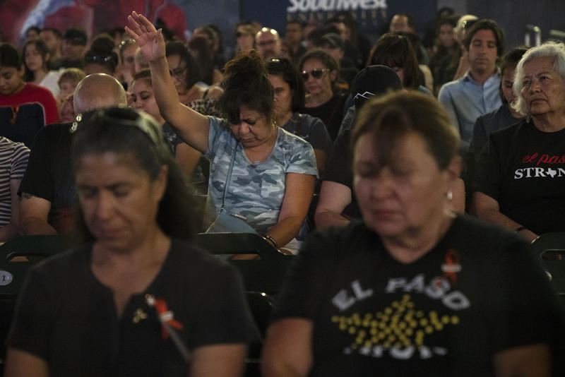 At El Paso Memorial, Community Honors Lives Lost And Takes First Steps To Heal