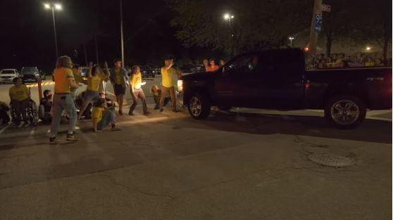 VIDEO: Car Speeds Into Crowd Of ICE Protesters Outside Detention Facility