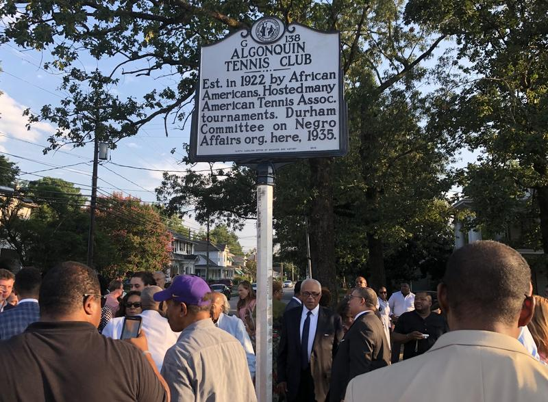 Historic Highway Marker Unveiled For Durham's Black Tennis Club