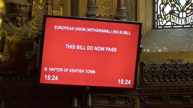 Britain's House Of Lords Approves Bill Blocking No-Deal