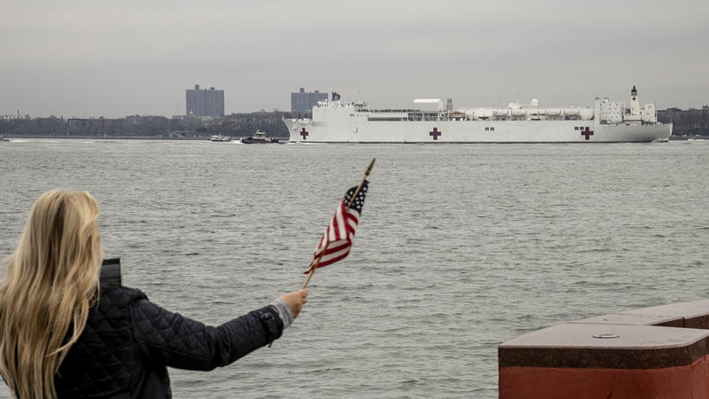 Hospital Ship USNS Comfort Arrives In New York To Ease Coronavirus ...