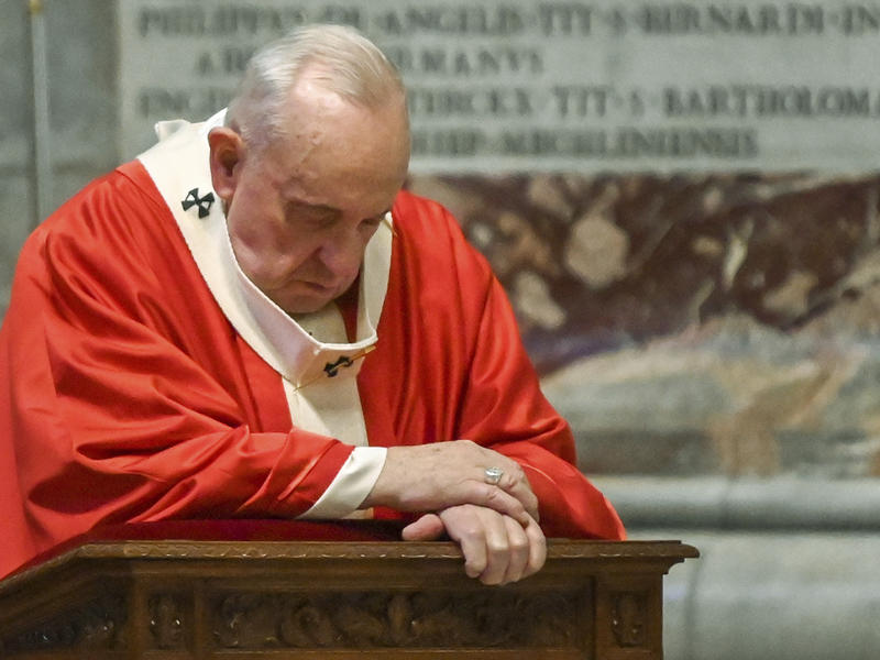 Pope Francis Livestreams Palm Sunday Mass In An 'Empty' St. Peter's Amid The Pandemic