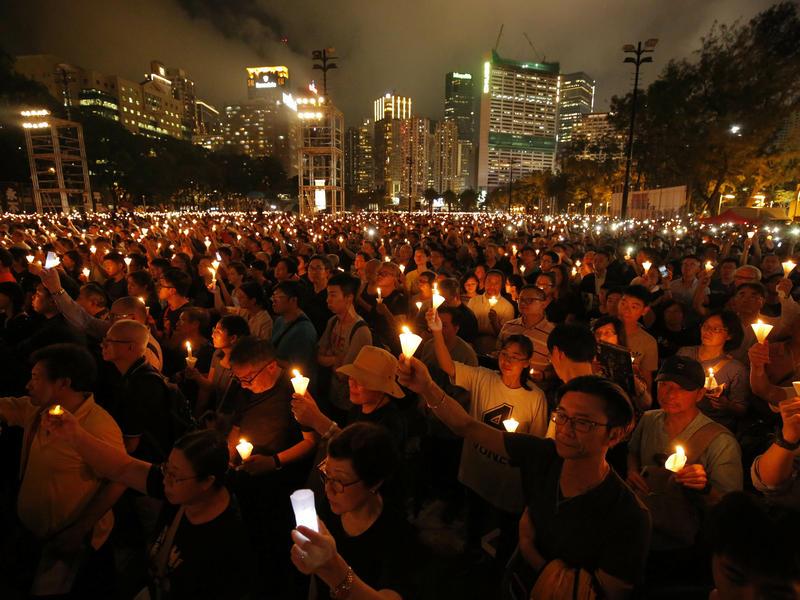 Hong Kong Police Block Tiananmen Square Vigil Due To Coronavirus