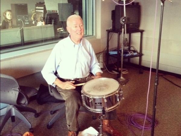Han Bennink performs in the <em>Fresh Air</em> studio.