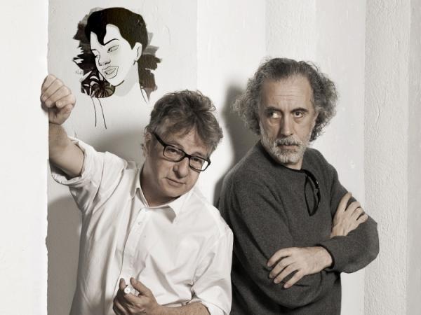 Javier Mariscal (left) and Fernando Trueba directed <em>Chico & Rita</em> along with Tono Errando.