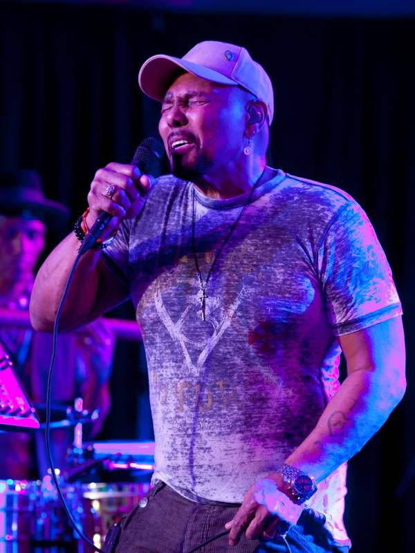 Aaron Neville performs with The Neville Brothers in <em>Treme</em>.