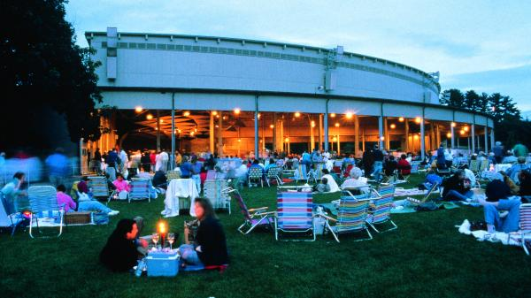 The scene at Tanglewood.