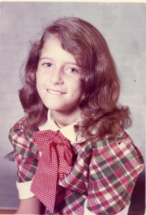 Wendy Russell in elementary school, 4th or 5th grade.
