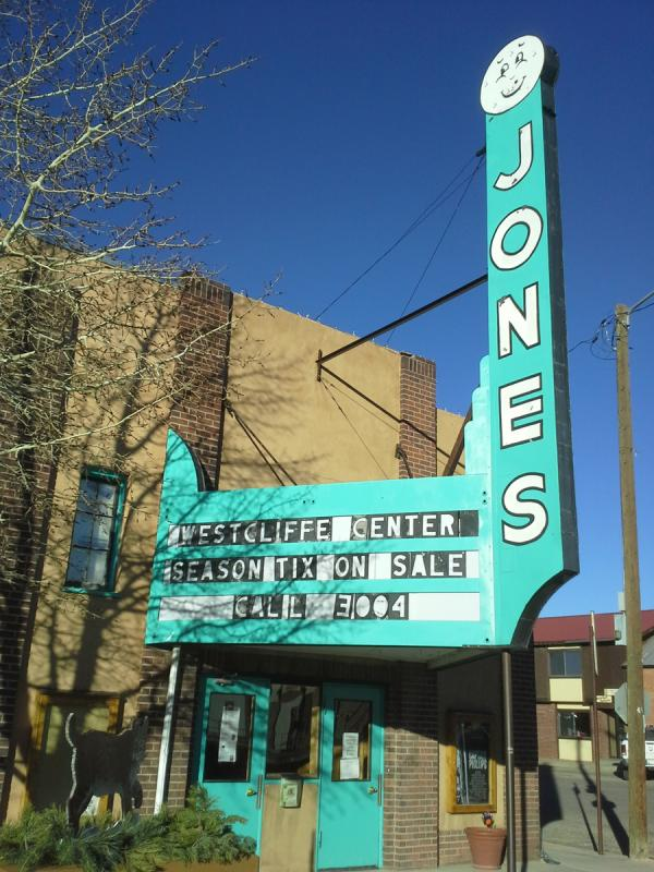 The Jones Theater and the Westcliffe Center for the Performing Arts. The theater received a state grant to convert to digital.