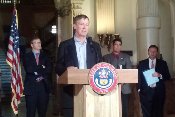 Governor Hickenlooper explains a new rule he's proposing to reduce methane emissions from oil and gas drilling. Two of the companies behind the effort, Anadarko and Noble Energy have recently created a public education outreach organization on fracking.