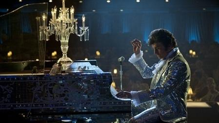 Michael Douglas stars as the flamboyant pianist and entertainer Liberace in Steven Soderbergh's new HBO biopic, <em>Behind the Candelabra.</em>