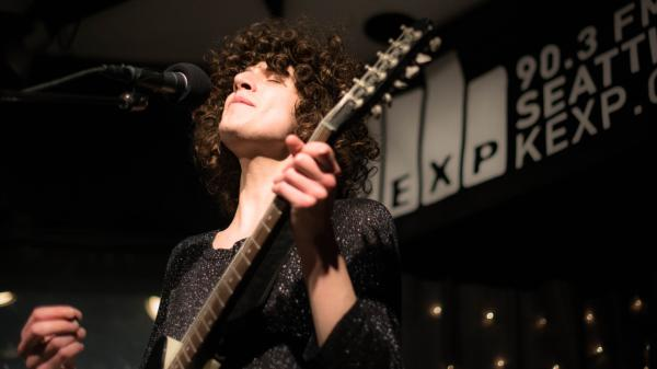 Temples, performing live in the KEXP studios.