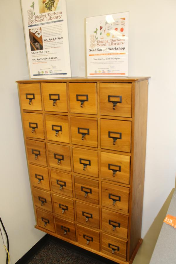 The home of the Durham County Seed Lending Library.