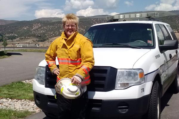Rock Creek Volunteer Fire Chief Brita Horn is also the Routt County treasurer and a part-time EMT.
