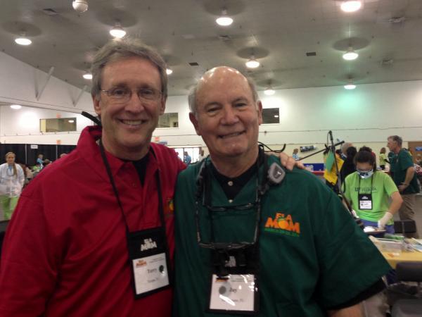 Florida Dental Association President Dr. Terry Buckenheimer and Dr. James (Jay) Walton of Tallahassee