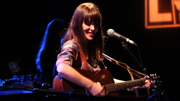 Feist performs at the <em>World Cafe</em> 20th-anniversary concert.