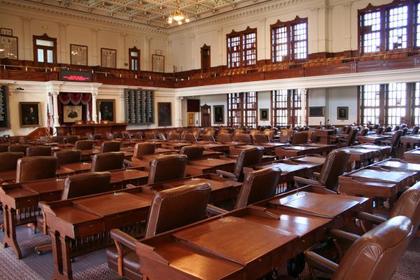 The Texas House of Represenative chambers