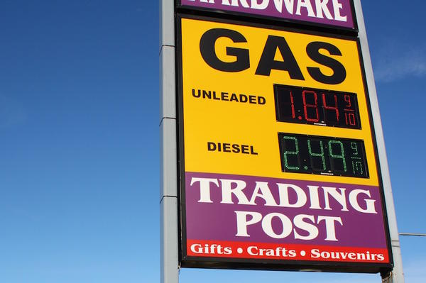 The Warpath gas station in Plummer, Idaho, has some of the cheapest gas west of the Rockies.