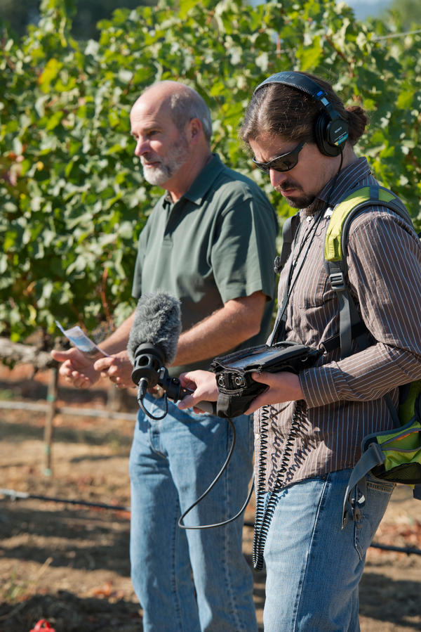 Bruce Cakebread, left, of Napa Valley's Cakebread Cellars has faced a terrible drought for the past four years. He's partnered with other family wineries and UC Davis to help develop water conversation programs.