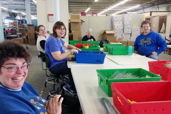 Most employees at Production Unlimited say they're happy at this sheltered workshop in Watertown, N.Y. But disability advocates say they'd get paid minimum wage, enjoy socializing with nondisabled people and no longer be segregated if they get jobs in community settings.