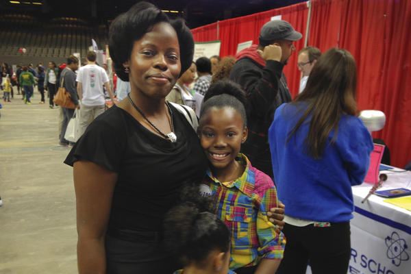 """Javanti Coleman hopes to find a new school for her daughter. """"The school that she goes to now, it doesn't meet my needs at all,"""" Coleman says."""