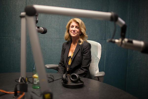 Wendy Davis visits KUT studios on September 11, 2014.