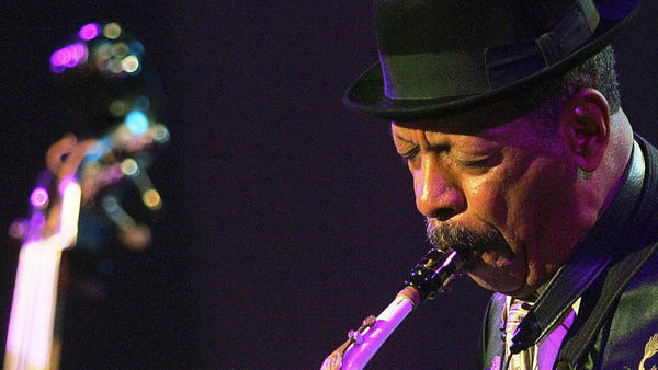 Ornette Coleman performs at the Skopje Jazz Festival in 2006.