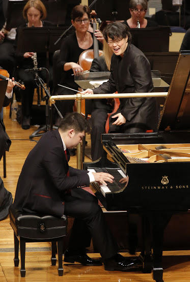 First place winner Alim Beisembayev played his piano concerto Sunday in Fort Worth.